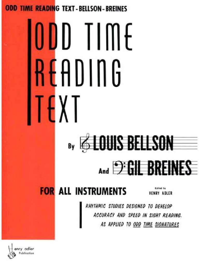 BENSON Louis et BREINES Gil, Text reading book in 4/4
